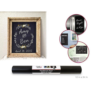 "Craft Decor: 12""X24"" Chalkboard Diy Vinyl Self-Stick Wall Decor - Dollar Max Depot"