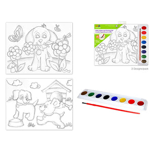 Doggies Krafty Kids Kit: 'Diy' Lil' Artist Watercolor Painting Set Asst
