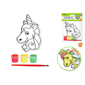 Unicorn Krafty Kids Kit: 'Diy' 3D Suncatcher W/3 Paints&Applicator - Dollar Max Depot