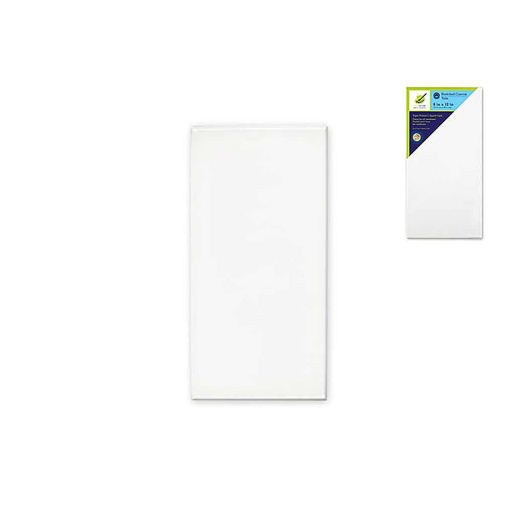"Stretch Artist Canvas: Rect. 6""X12"" Primed Back-Stapled Painting Canvas - Dollar Max Depot"