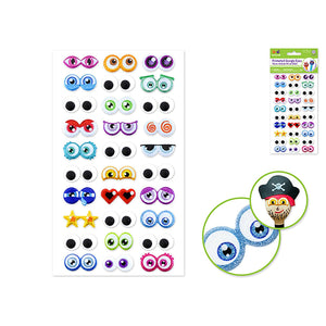 Cartoon Self-Stick Googly Eyes: Animation Glitter & Googlies 30 Pairs - Dollar Max Depot