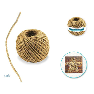 Craft Medley: 3Ply Natural Jute Cord 80G - Dollar Max Depot