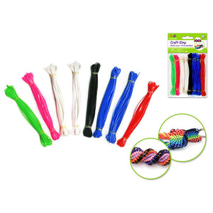 Bold Krafty Kids: Plastic String (Gim X8 (19.2 6Colors - Dollar Max Depot