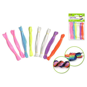 Glamour Krafty Kids: Plastic String (Gim X8 (19.2 6Colors - Dollar Max Depot