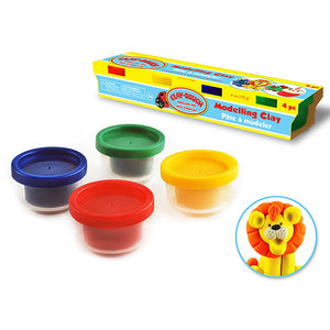 Primary Colors Krafty Kids: 4Oz Clay-Dough 4-Tub Fun-Pack