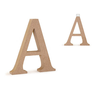 "Awood Letters: 5 1/8"" Mdf Standing - Dollar Max Depot"