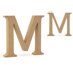 "Mwood Letters: 5 1/8"" Mdf Standing - Dollar Max Depot"