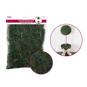 Wild Moss Green Dried Naturals: 2Oz Colored Floral Moss (60Gm - Dollar Max Depot