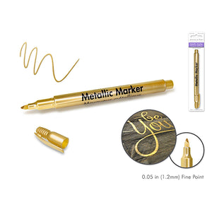 Gold Metallic Marker: 1.2Mm Fine Point