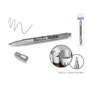 Silver Metallic Marker: 1.2Mm Fine Point