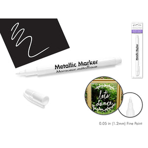 White Metallic Marker: 1.2Mm Fine Point