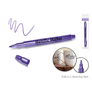 Purple Metallic Marker: 1.2Mm Fine Point