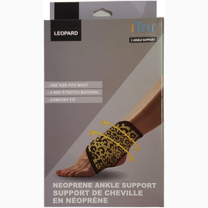 Ankle Support - Leopard Pattern - Neoprene Stretchable Material - Dollar Max Depot