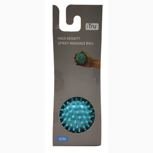 High Density Spiky Massage Ball - 6 Cm - Single Pack - Blue Color. Relieves Stress & Improves Blood Circulation - Dollar Max Depot
