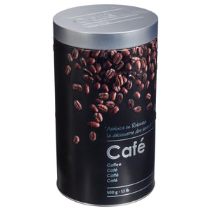 PRINTED TIN BOX - COFFEE