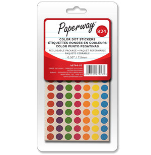 924 Colour Dot Stickers - Dollar Max Depot