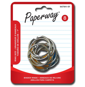 "8 Binder Rings 1"" - Dollar Max Depot"