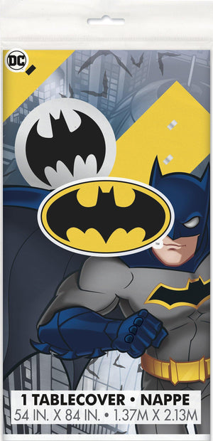 Batman Party Rectangular Plastic Tablecloth 54 X 84 inches - Dollar Max Depot