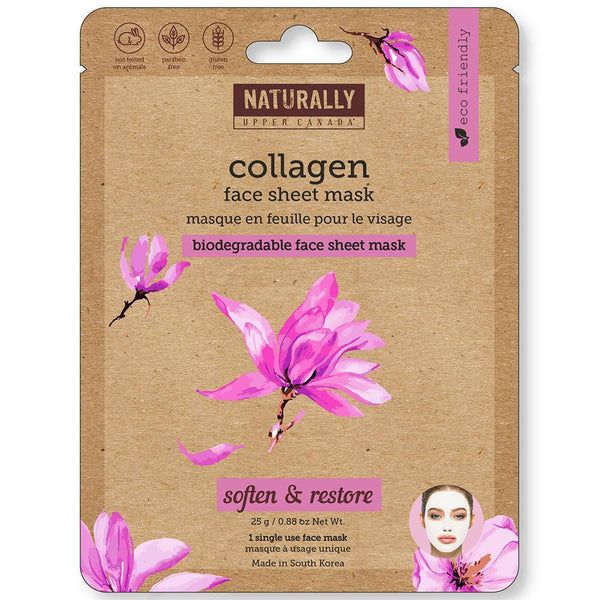 Biodegradable Face Sheet Mask - Collagen