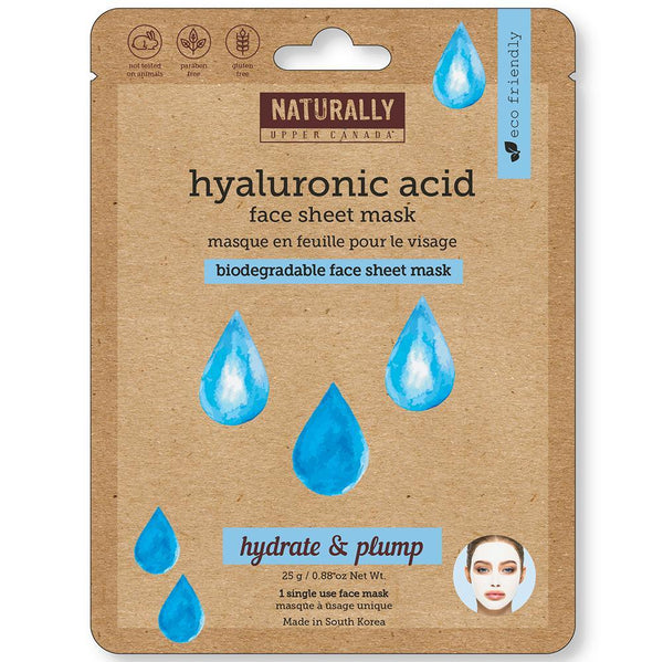 Biodegradable Face Sheet Mask - Hyaluronic Acid