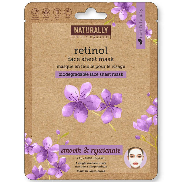 Biodegradable Face Sheet Mask - Retinol