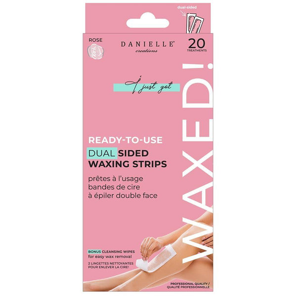 Ready-To-Use Dual Sided Waxing Strips (20 Strips) - Rose