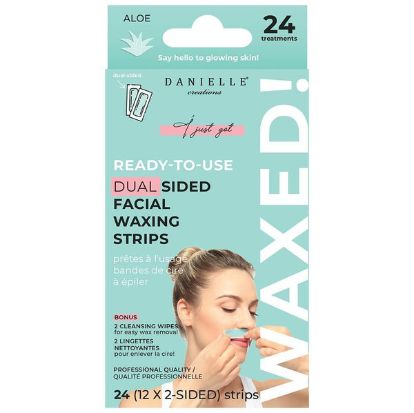 Ready-To-Use Dual Sided Facial Waxing Strips (20 Strips) - Aloe