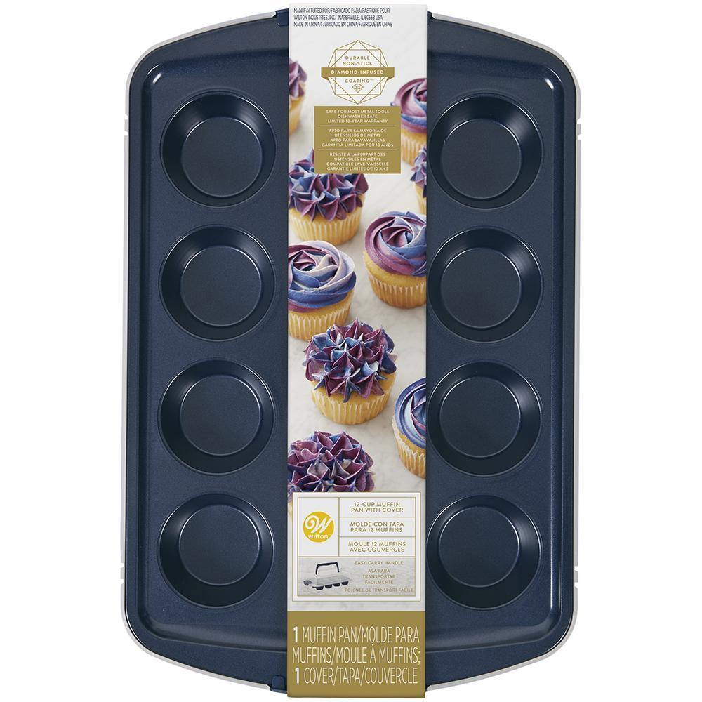 Wilton Pan With Lid 12 Cavities Muffin Set - Dollar Max Depot