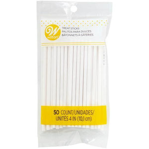 Wilton Lollipop Sticks 4In 50 Count  Efs - Dollar Max Depot