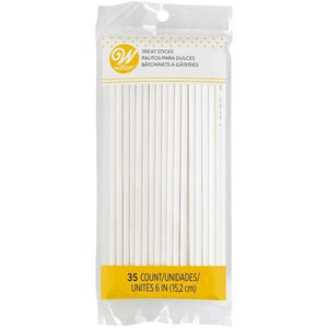 Wilton Lollipop Sticks 6In 35 Count  Efs - Dollar Max Depot
