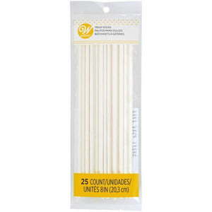 Wilton Lollipop Sticks 8In 25 Count  Efs - Dollar Max Depot