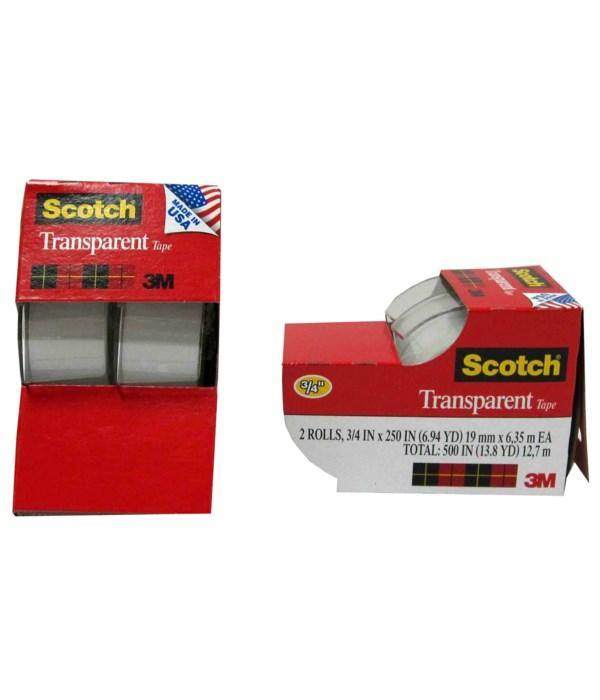 3M Scotch Transparent Tapes 2-Pack