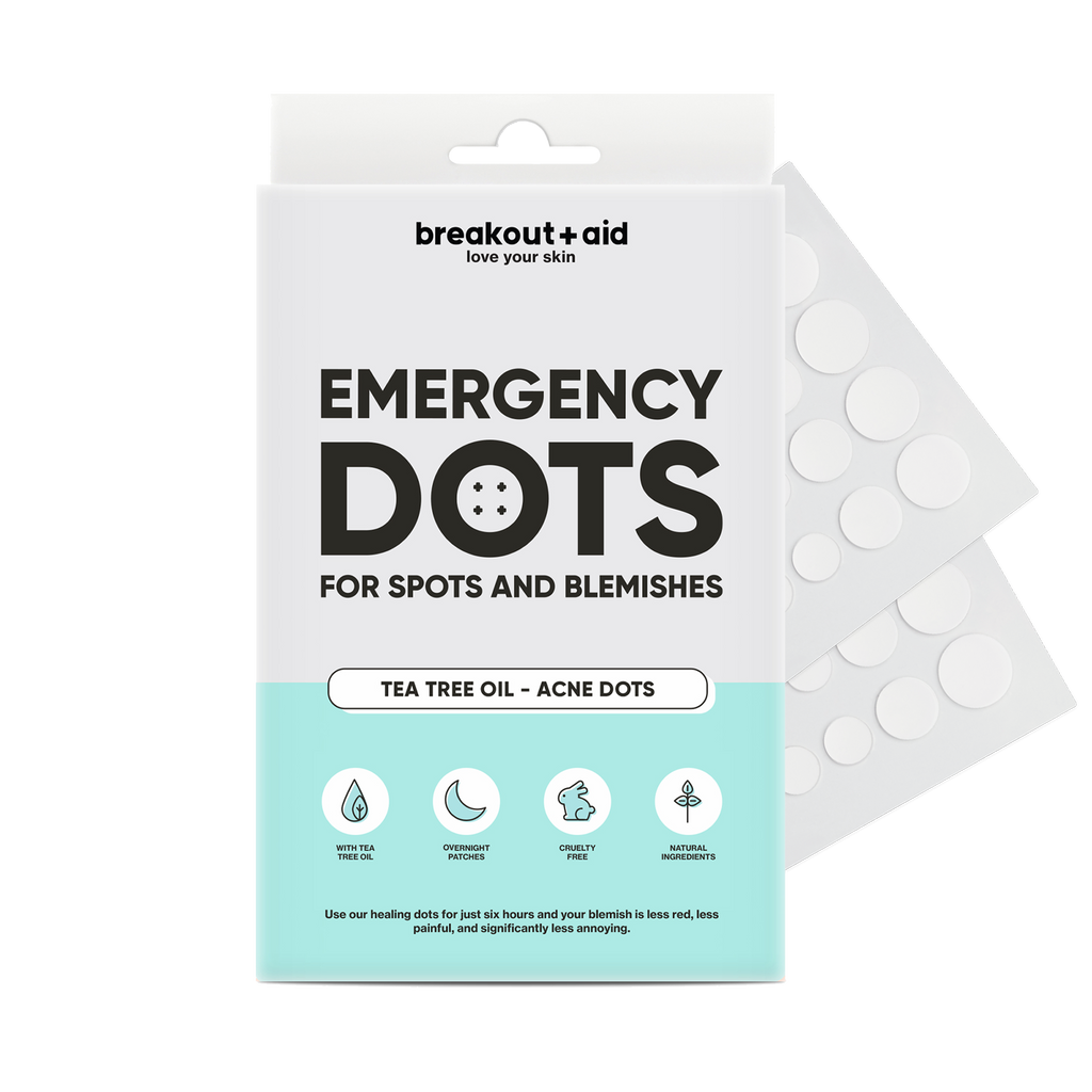 Emergency dots for spots and blemishes with tea tree oil