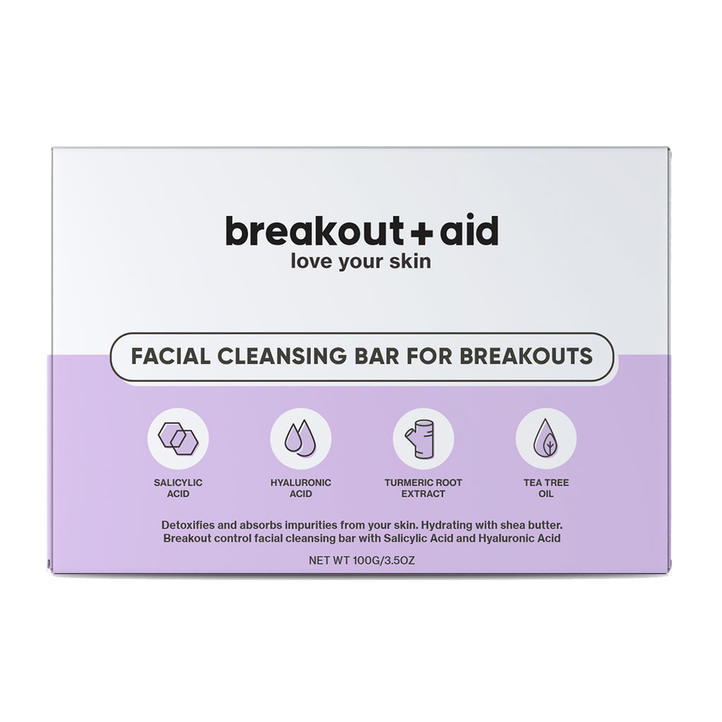 Facial cleansing bar for breakouts