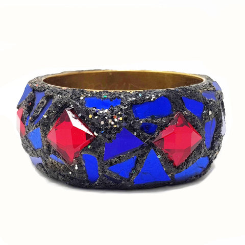 BLUE AND RED STAR BRACELET