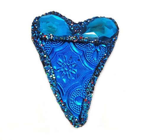 BLUE HEART BROOCH - JAIPUR JOY