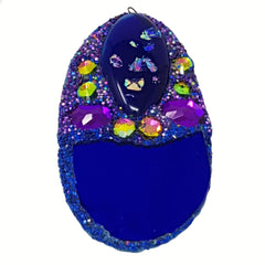 BLUE COSMIC EGG BROOCH OR PENDANT