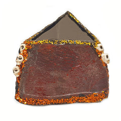 PYRAMID MOUNT - STONE BROOCH