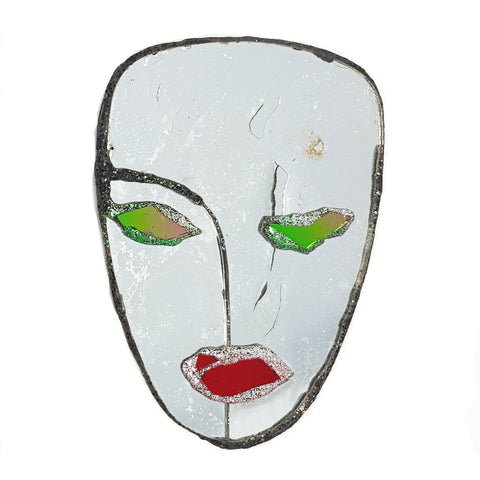 MIRROR FACE BROOCH - BUD, 1997