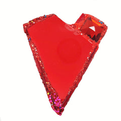 CONSTRUCTIVISM - RED HEART BROOCH