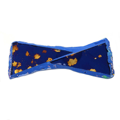BLUE DOTTY BOW TIE BROOCH