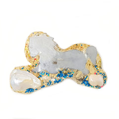 WHITE HORSES BROOCH