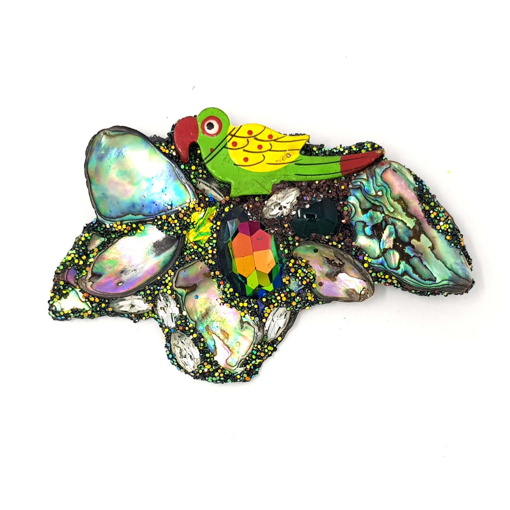 POLLY PERCH - PARROT BROOCH