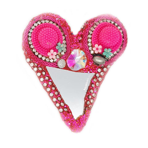 PINK HEART BROOCH - HEART HAT