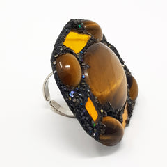 TIGER EYE JASPER RING