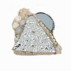 SILVER MOON AND MOUNTAIN BROOCH - WINTER
