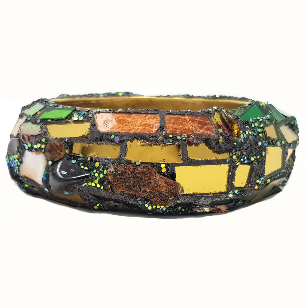 GREEN BANGLE WITH STONES