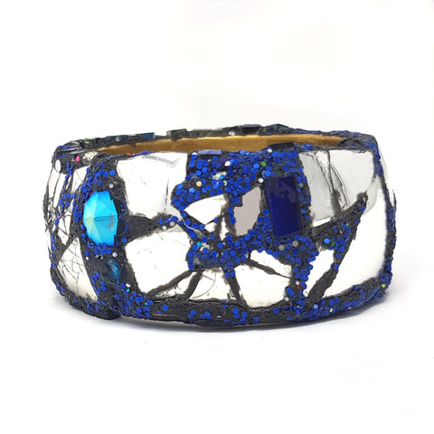 MIRRORED BLUE BANGLE