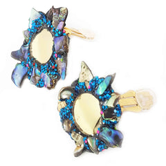 GOLD AND PAUA EARRINGS