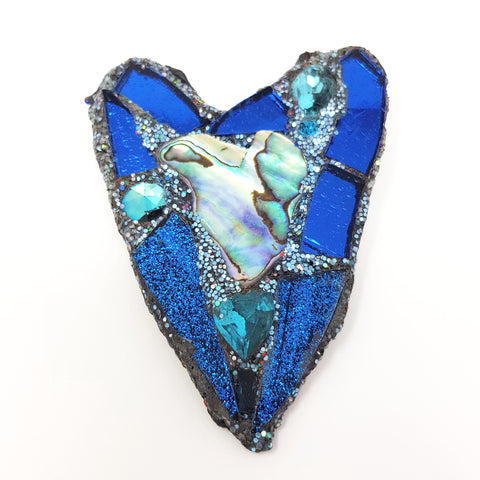 BLUE PAUA HEART
